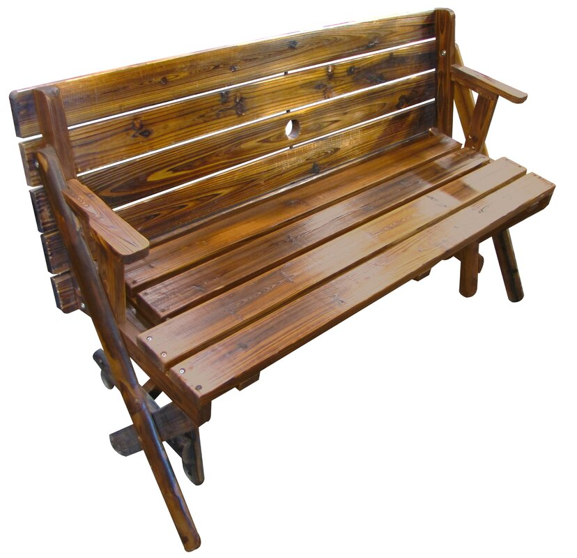 Char Log Folding Bench And Table