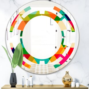 Leaves Floral I Modern Wall Mirror by East Urban Home