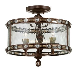 Manado 3-Light Semi Flush Mount by Gracie Oaks