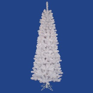 white salem pencil pine 95 artificial christmas tree with 600 clear lights with stand