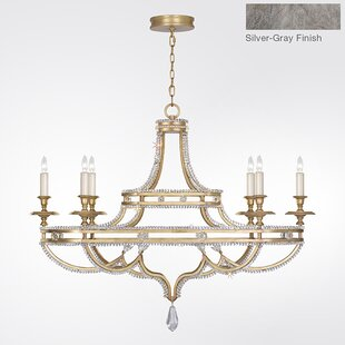Prussian Neoclassic 6-Light Chandelier by Fine Art Lamps