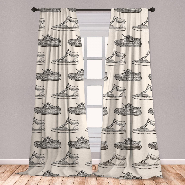 East Urban Home Sketch Room Darkening Rod Pocket Curtain Panels Wayfair