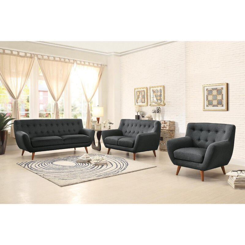 Brayden Studio Vicente Tapered Wooden Leg Sofa Wayfair