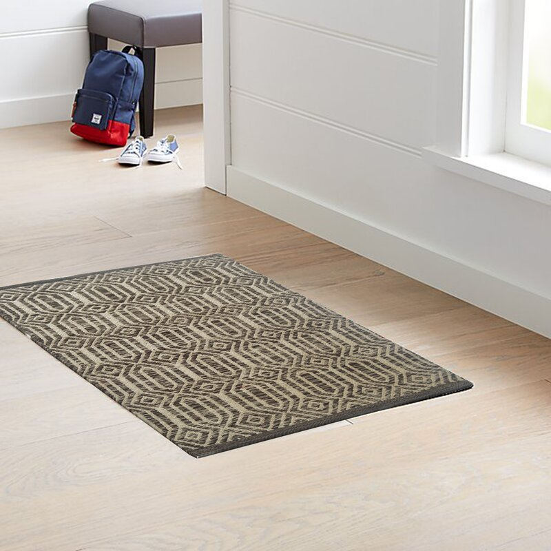 World Menagerie Clybourne Geometric Handmade Flatweave Cotton Brown Beige Area Rug Wayfair