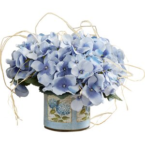 Hydrangea with Raffia Bouquet