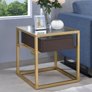 Danyel Glass End Table