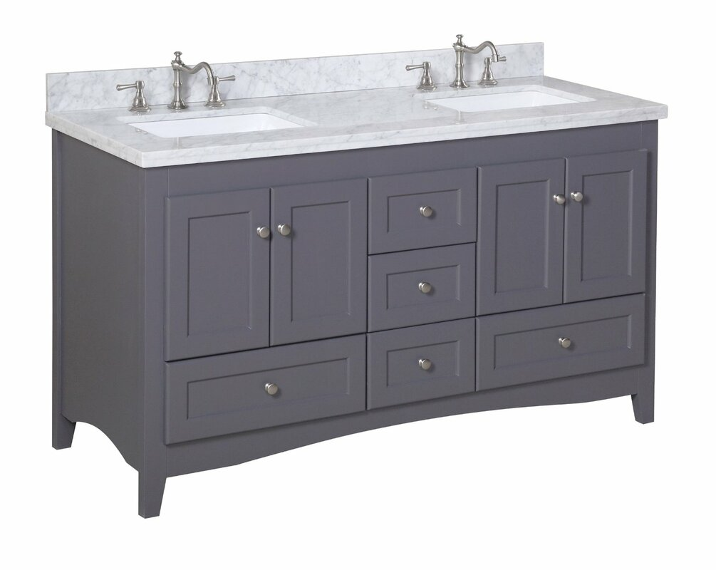 Kbc abbey 60 double bathroom vanity set reviews wayfair abbey 60 double bathroom vanity set geotapseo Image collections