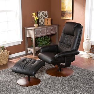Arkin Standard Size Manual Swivel Recliner with Ottoman