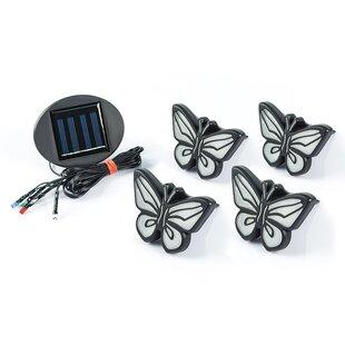 Savings Solar Butterfly 5 Piece Landscape Lighting Set By Ideaworks