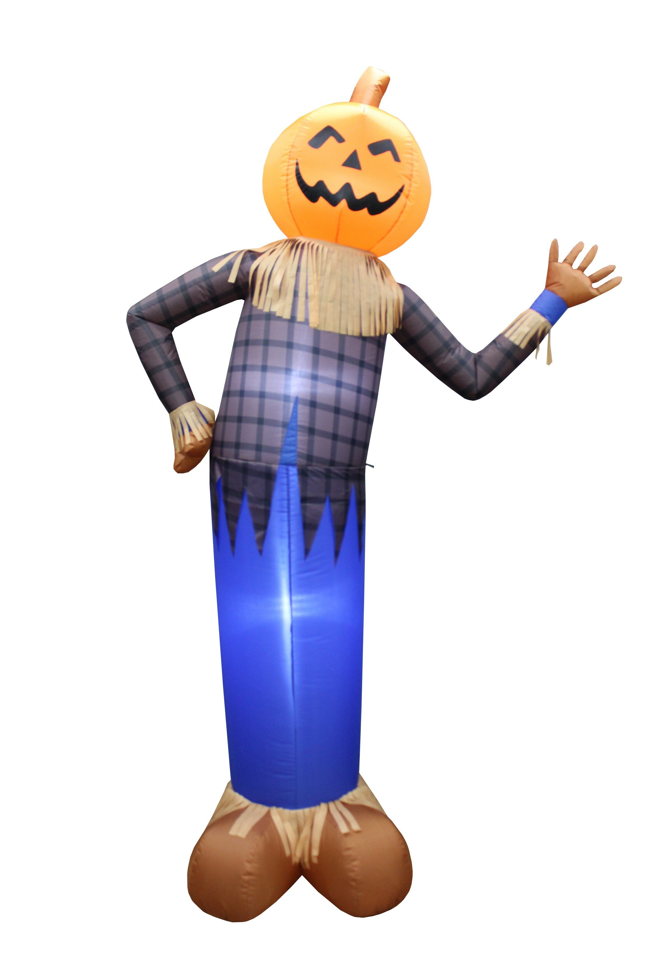 6 Foot Tall Scarecrow with Pumpkin Head Yard Decoration Inflatable