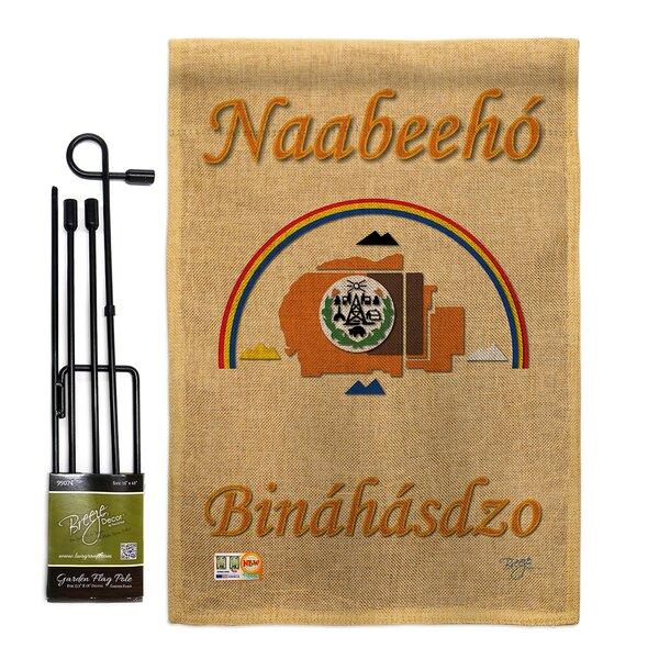 Breeze Decor Navajo Nation 2 Sided Burlap 19 X 13 In Flag Set Wayfair