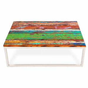 EcoChic Lifestyles Rising Tide Wood Coffee Table Image