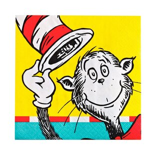 8d0504b6 Dr. Seuss Paper Disposable Beverage Napkin