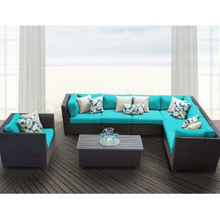 Medley 8 Piece Sectional Seating Group With Cushions by Rosecliff Heights Find