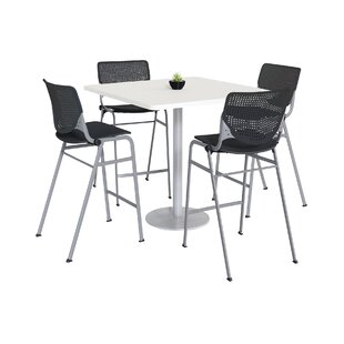 Lundell Bistro 5 Piece Pub Table Set