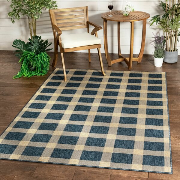 Well Woven Medusa Flatweave Blue Indoor Outdoor Use Rug Wayfair