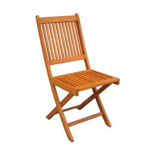 Sabbattus Folding Patio Dining Chair (Set of 2)