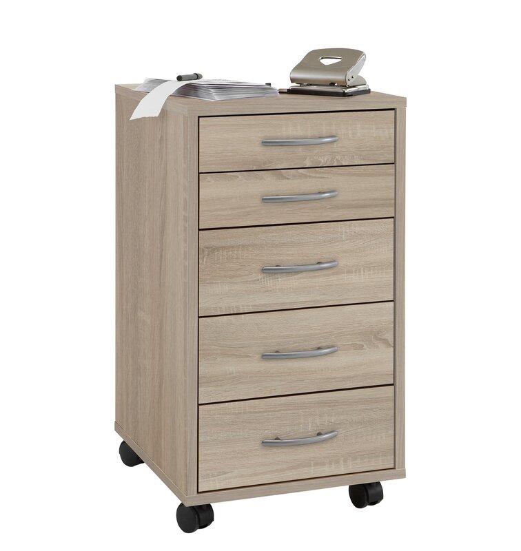 fmd rollcontainer freddy mit 5 schubladen bewertungen. Black Bedroom Furniture Sets. Home Design Ideas