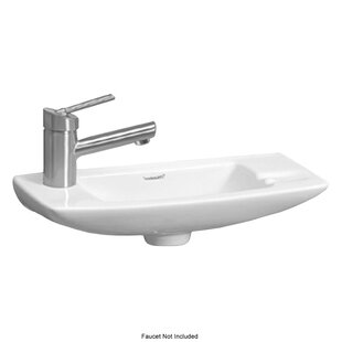 Inexpensive Isabella Ceramic 18 Wall Mount Bathroom Sink By Whitehaus Collection