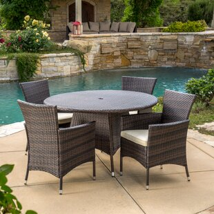Byrom 5 Piece Dining Set with Cushions by..