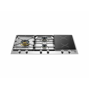 Pro Series 35'' Induction and Gas Cooktop with 5 Burners