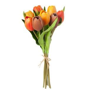 9 Piece Bouquet Tulip Flowering Desktop Plant By The Seasonal Aisle