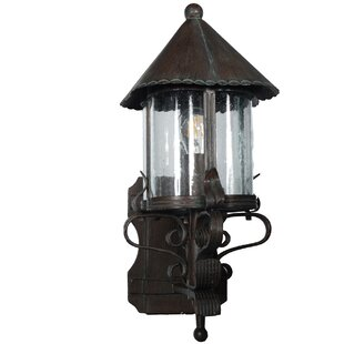 Myers 1-Light Metal Outdoor Wall Lantern by August Grove