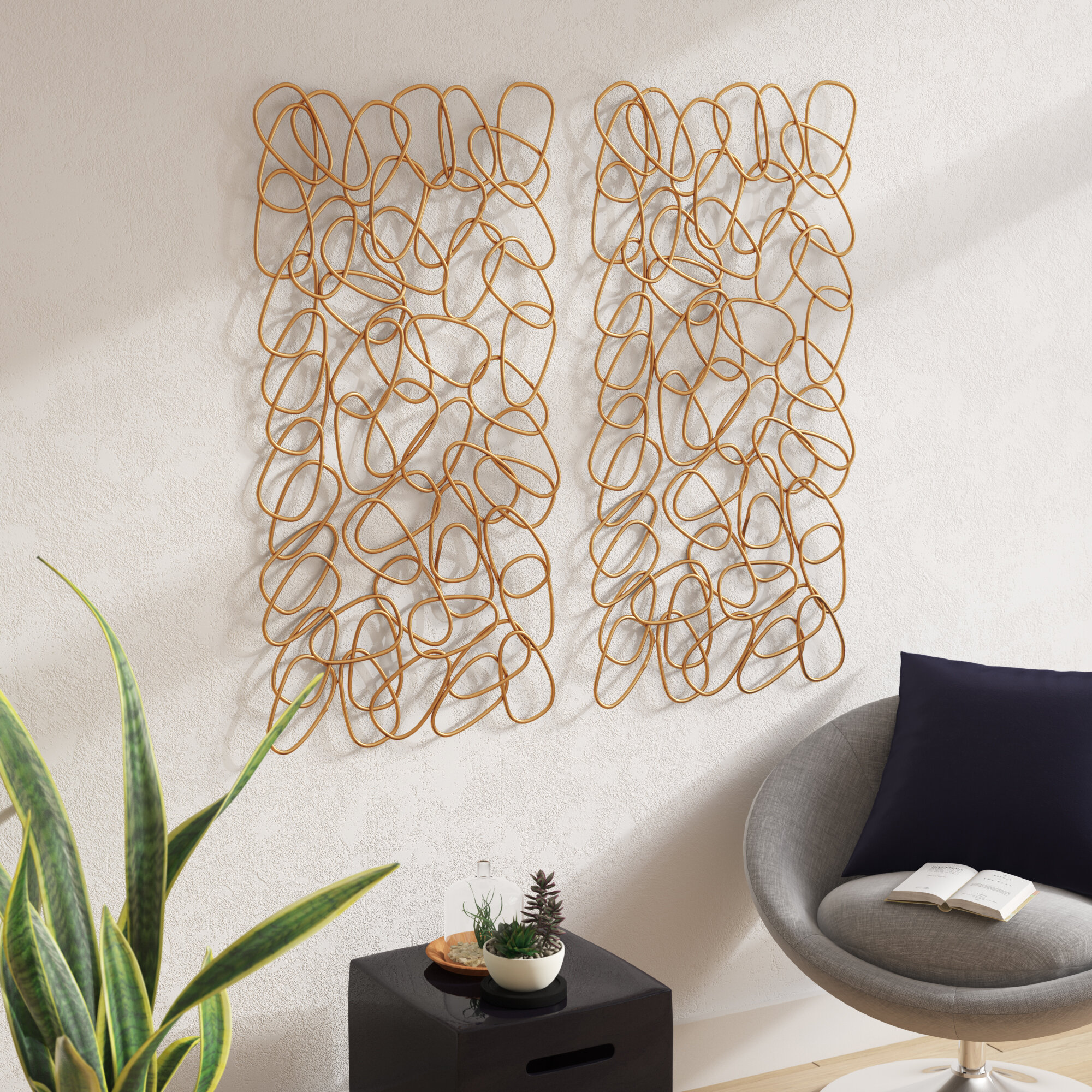 Everly Quinn Contemporary Iron Wall