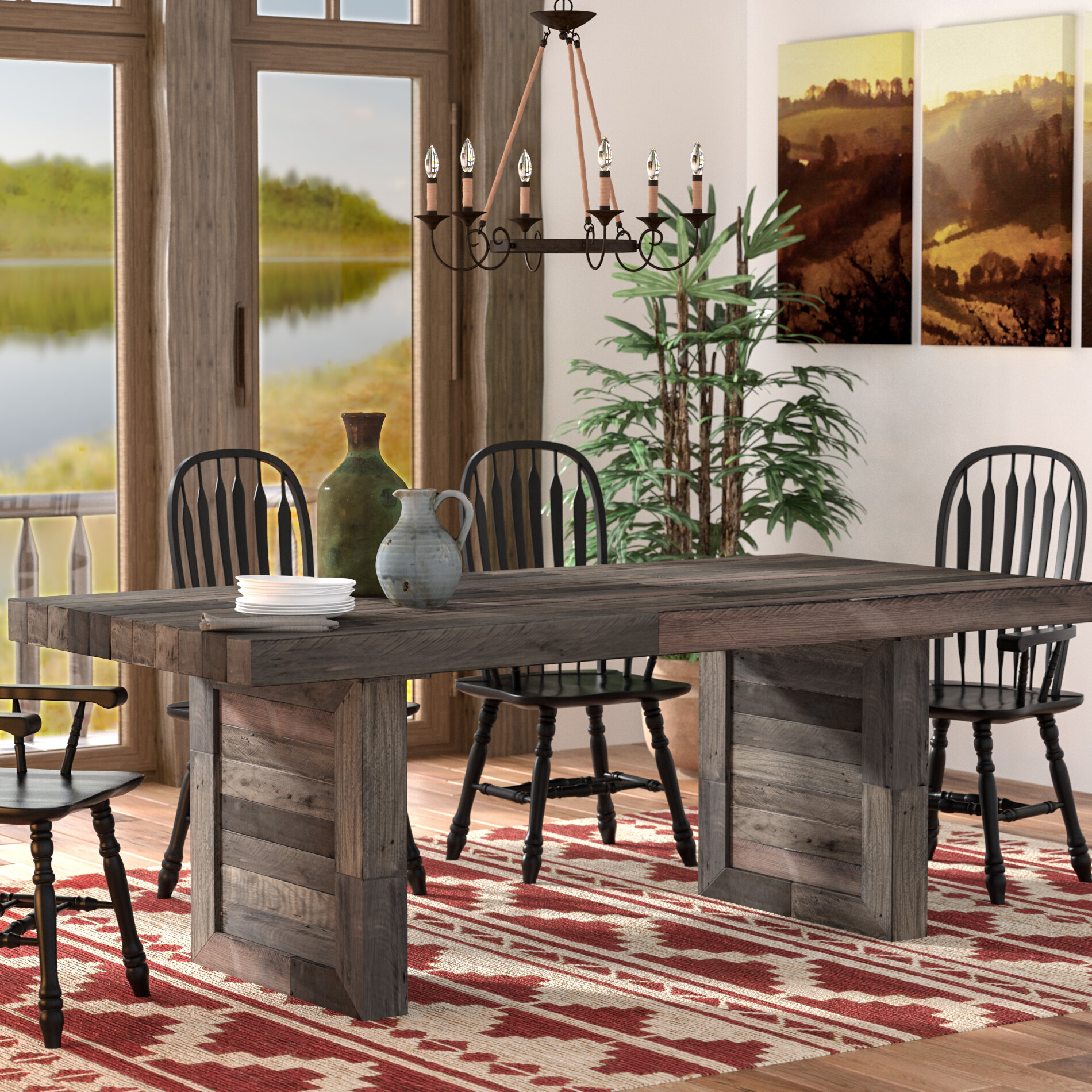 Abbey Solid Wood Dining Table