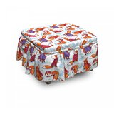 Fox Animals In Winter Sweaters 2 Piece Box Cushion Ottoman Slipcover Set by East Urban Home