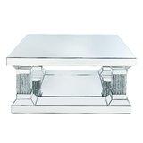 Delmira Floor Shelf Coffee Table with Storage by Rosdorf Park