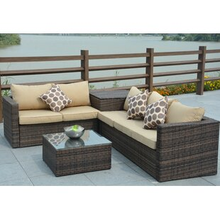 Faust 4 Piece Sofa Set with Cushions