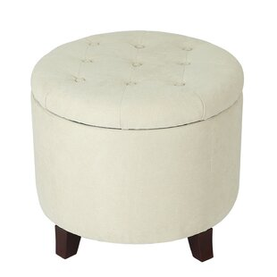 Incredible Vella Round Button Lift Top Tufted Storage Ottoman Dailytribune Chair Design For Home Dailytribuneorg
