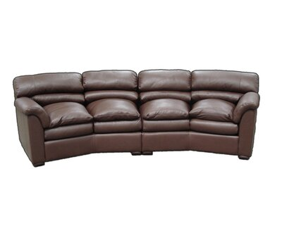 Canyon Leather Conversation Sofa Omnia Leather Seat Cushion Fill: Down Cushion Fill, Body Fabric: Saloon Blush