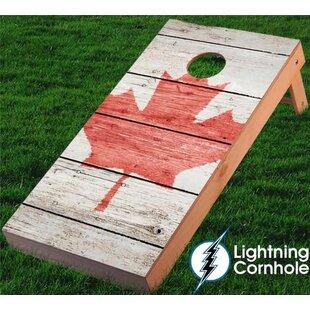 Lightning Cornhole Maple Leaf Textured Cornhole Board