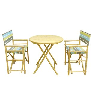 ZEW Inc Bamboo 3 Piece Dinning Set