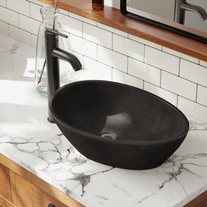 MR Direct Bronze Oval Vessel Bathroom Sink