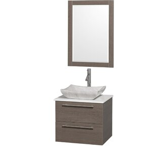 Amare 24 Wall-Mounted Single Bathroom Vanity Set with Mirror By Wyndham Collection