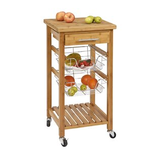 Danial Bamboo Kitchen Bar Cart
