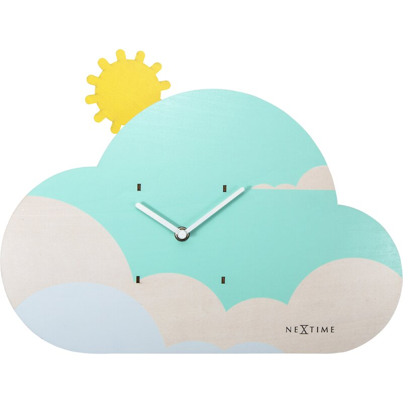 Isabelle Max Eclectic Cloudy Wall Clock Wayfair