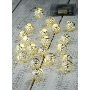 The Holiday Aisle Mattis Globe 20-Light Novelty String Light
