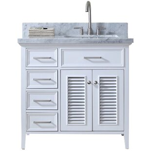 Hamil Right Offset 37 Single Bathroom Vanity with Mirror