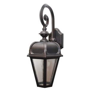 Compare prices Flannigan 1-Light Outdoor Wall Lantern By Charlton Home