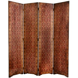 Clair Rococo 4 Panel Room Divider by World Menagerie