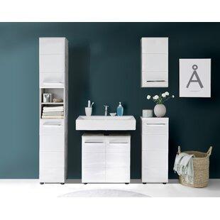 Great Deals Chewton Keynsham 4 Piece Bathroom Storage Furniture Set