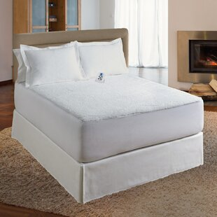 Sherpa Plush Electric Polyester Heated Mattress Pad
