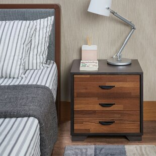 Battin Rectangular 3 Drawer Nightstand by Wrought Studio