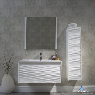 Reviews Artesian 36 Single Bathroom Vanity Set with Mirror By Ivy Bronx
