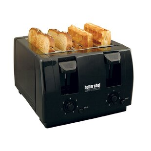 4 Slice Toaster with Dual-Control