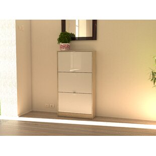 Rebrilliant Ridgley 3 Drawer 18 Pair Shoe Storage Cabinet